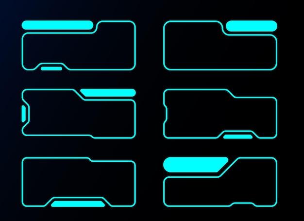 Футуристическая округлая квадратная рамка hud векторный дизайн