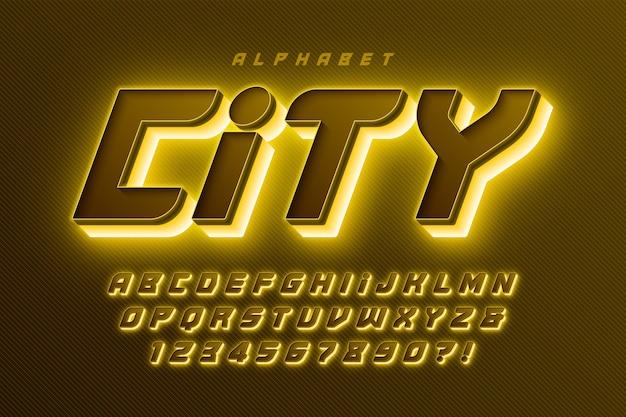 Футуристический научно-фантастический алфавит, набор дополнительных светящихся, творческих персонажей.