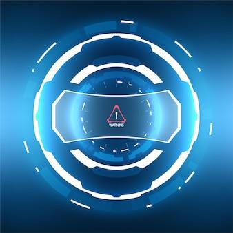 未来的なsfhudサークル要素。バーチャルリアリティテクノロジー画面。