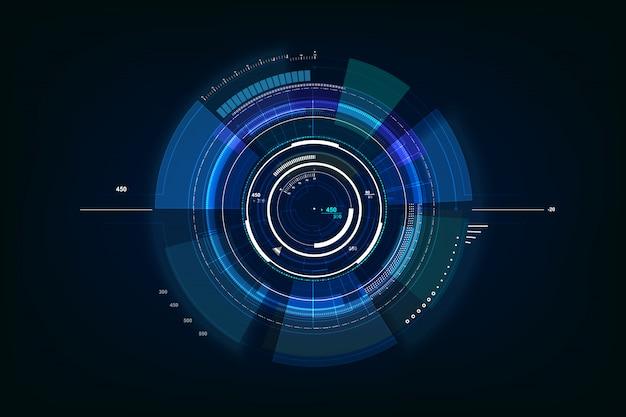 Futuristic sci fi technology background