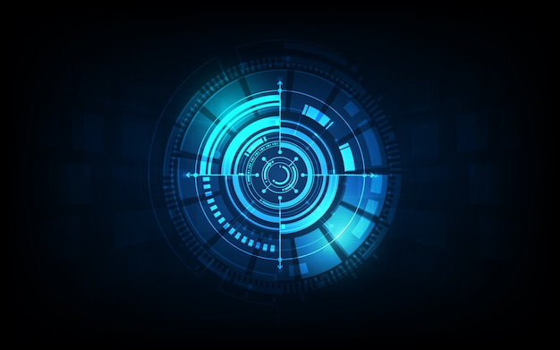 Futuristic sci fi technology pattern concept background