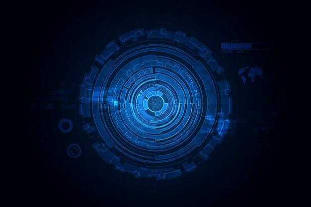 미래 공상 과학 기술 패턴 개념 배경