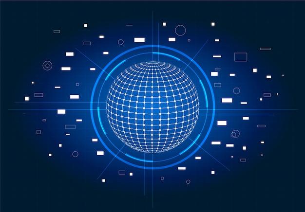 未来的なsci fiユーザーインターフェイス。青いhudインターフェイス要素。