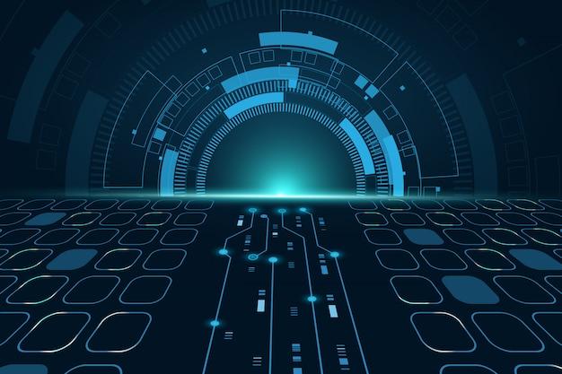 Концепция технологии futuristic science, визуализация больших данных exchange