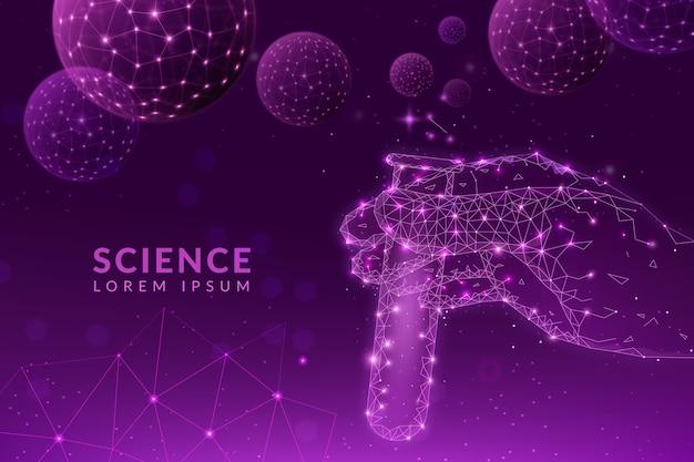 미래 과학 실험실 배경 개념