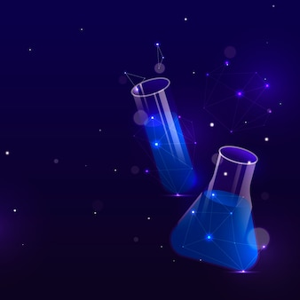 Futuristic science lab background in space