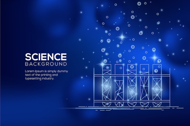 Futuristic science lab background