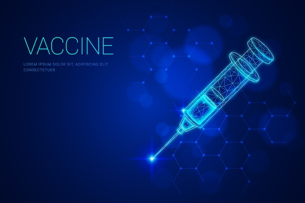 Futuristic science vaccine background