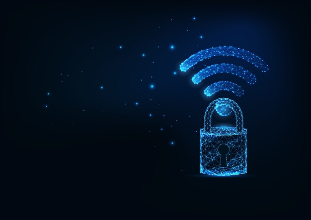 Футуристическое безопасное беспроводное интернет-соединение