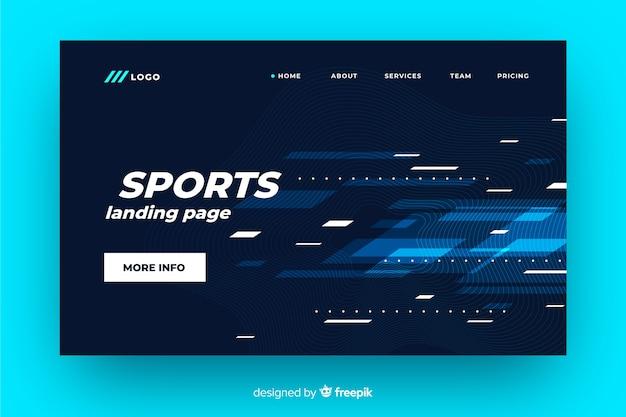 Futuristic sport landing page