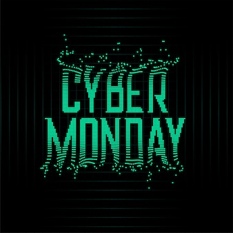 Futuristic style cyber monday particles background