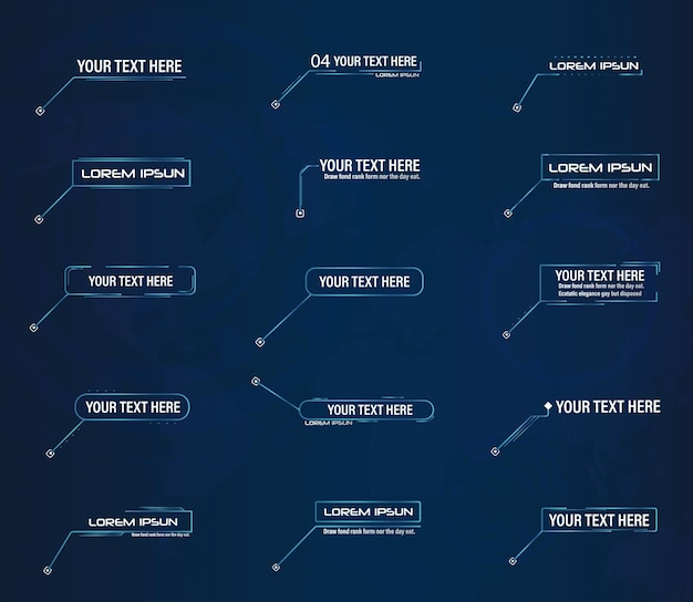 未来的なスタイルのリーダーコールアウトhudフレームレイアウトに適用可能な最新のデジタルテンプレート新しい2022