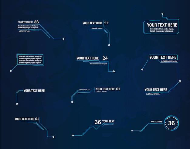 미래형 스타일 리더 콜아웃 hud 프레임 레이아웃에 적용 가능한 최신 디지털 템플릿 new 2022