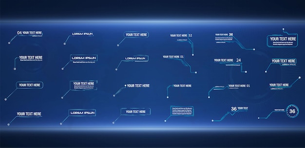 Futuristic style leader callout hud modern digital templates applicable for frame layout