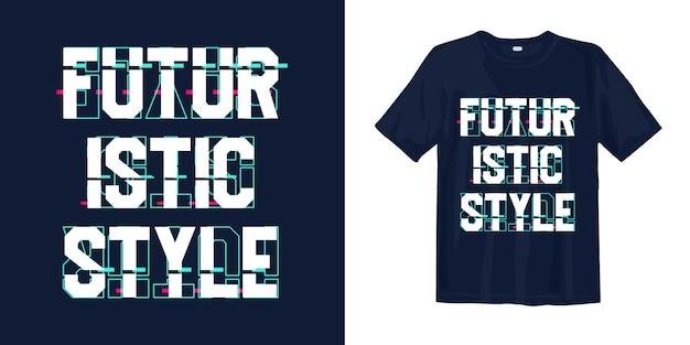 글리치 티셔츠 디자인으로 미래 지향적 인 스타일