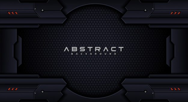 Futuristic tech abstract background design template