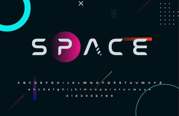 Futuristic techno bold sci fi display font style