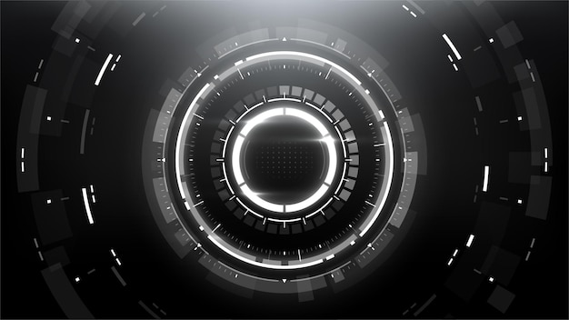 Futuristic technology abstract circlular background