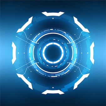 Futuristic technology abstract circlular background.