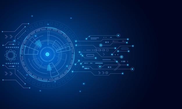미래 기술 추상 템플릿, 혁신적인 가상 사용자 인터페이스, hud, 화살표 속도 배경