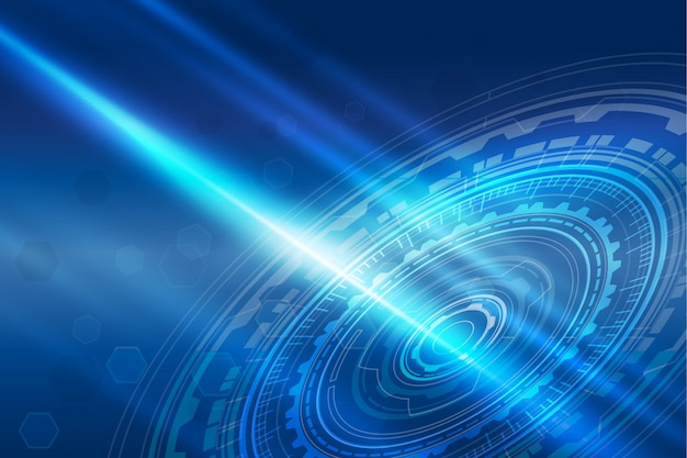 Futuristic technology background with blue gradient