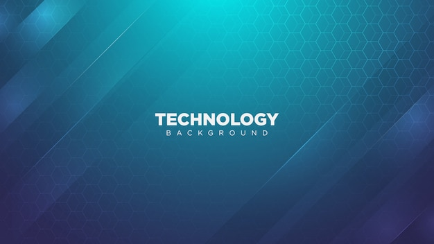 Futuristic technology background with polygonal design