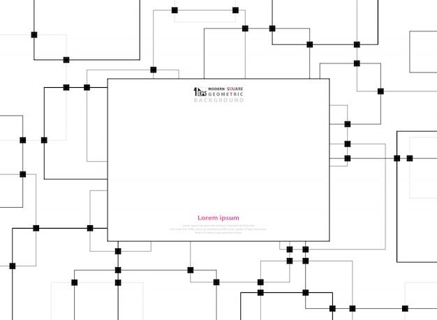 Futuristic technology of black square pattern
