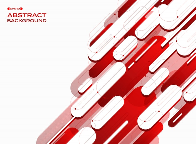 Futuristic technology gradient red lines background.