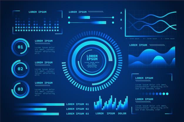 Futuristic technology infographic