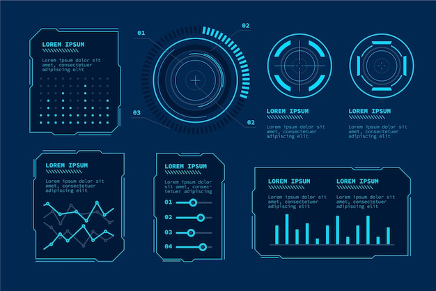 Futuristic technology infographic