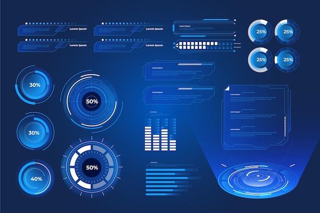 Infografica tecnologia futuristica