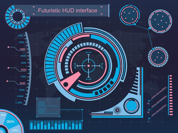 Futuristic technology interface hud ui background.