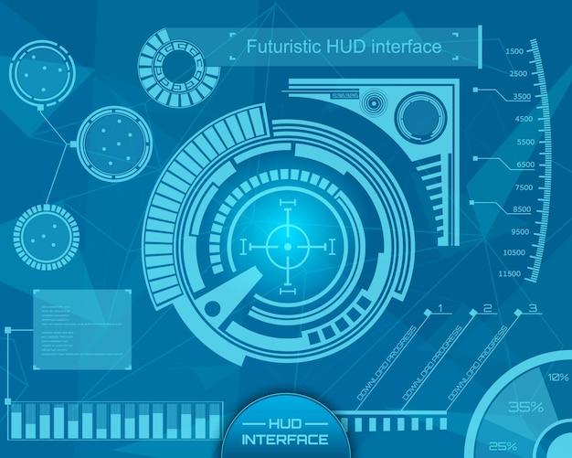 Futuristic technology interface hud ui background.