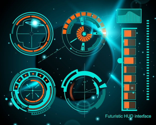 Futuristic technology interface hud ui.
