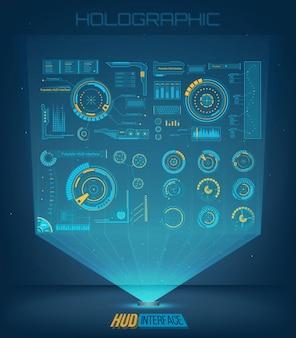 Futuristic technology interface hud ui.