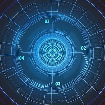 Футуристические технологии круглый экран радара.