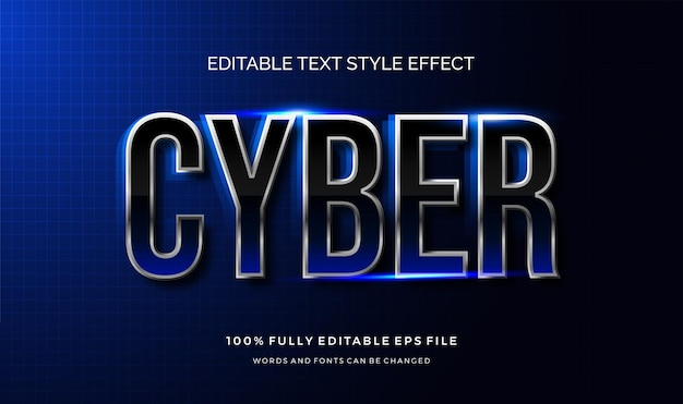 Futuristic text style effect. editable text