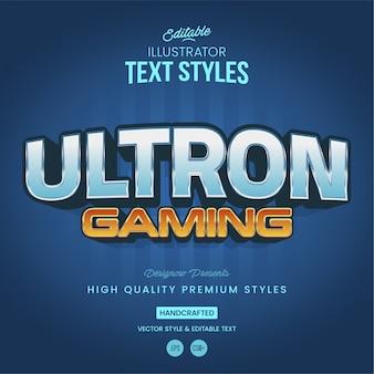 Futuristic text style