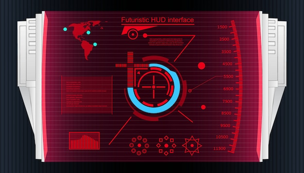 Futuristic touch user interface hud background.