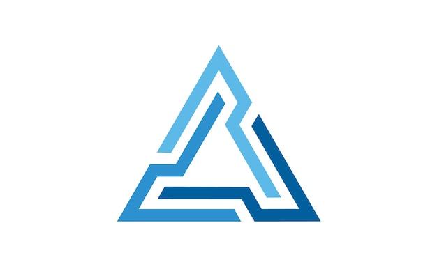 Futuristic triangle chain logo design