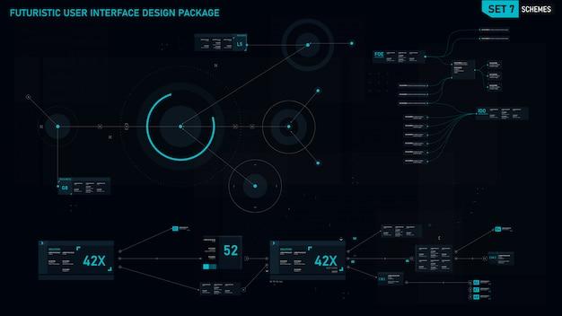 Futuristic user interface element