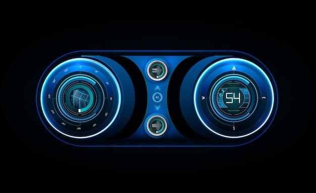 Futuristic user interface. hud ui.