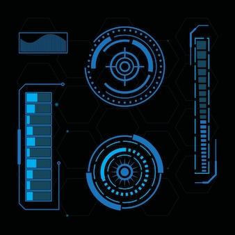 미래 지향적인 사용자 인터페이스 일러스트레이션 디자인 템플릿