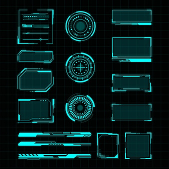 Futuristic user interface illustration