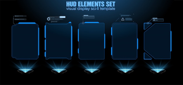 Futuristic vector hud interface screen design.