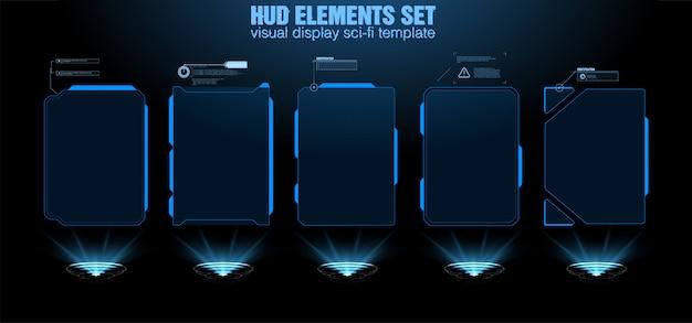 Футуристический дизайн экрана интерфейса hud вектора.