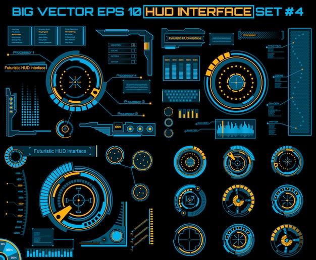 Futuristic virtual touch user interface hud.