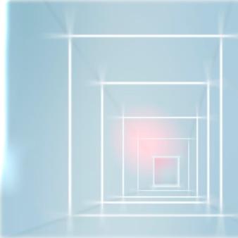 Sfondo futuristico passerella in tonalità blu