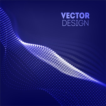 Futuristic wave abstract background. wavy line dots. technology concept. big data  .