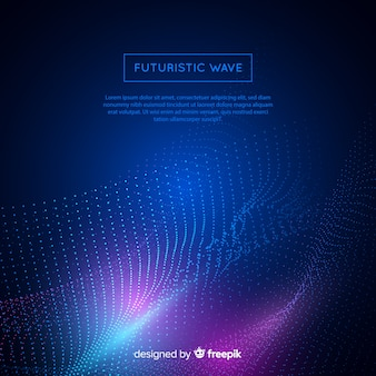 Futuristic wave background